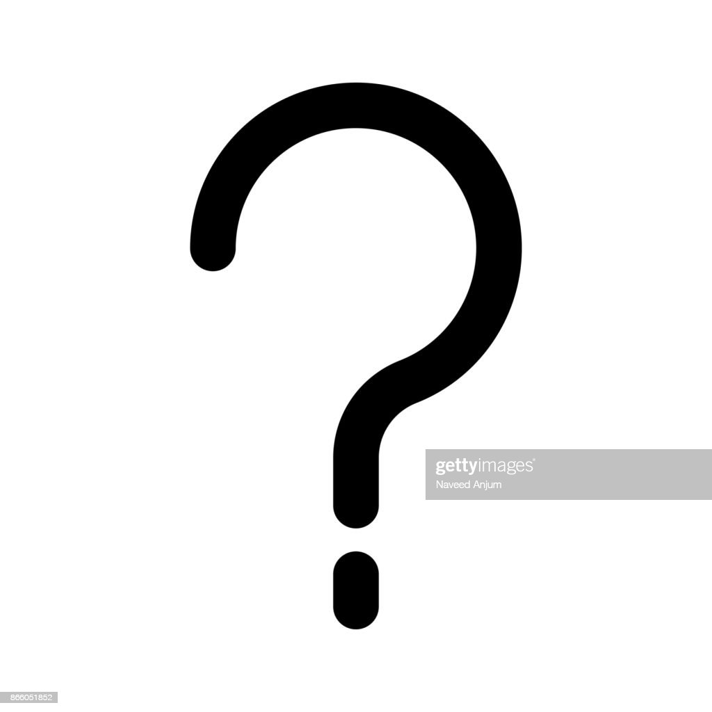 question mark Thin Line Vector Icon