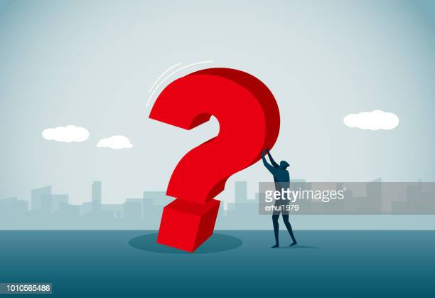 question mark - holding up sign stock illustrations