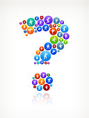Question Mark  Wellness Active Lifestyle Vector Button Pattern
