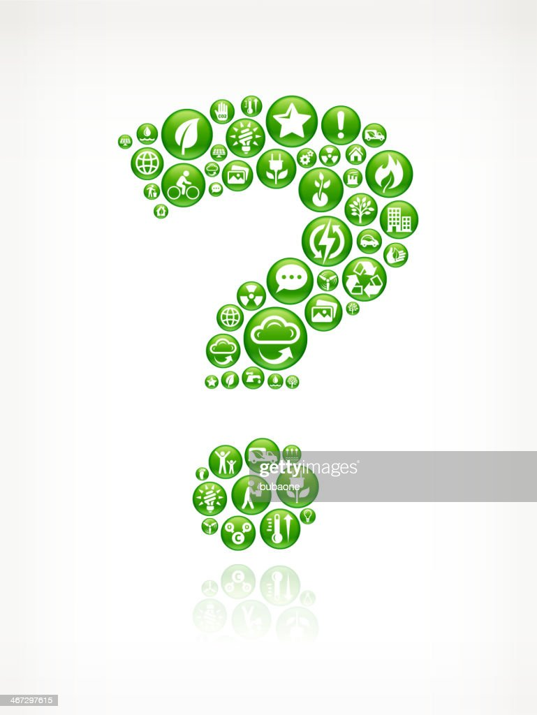 Question Mark with Green Energy Buttons