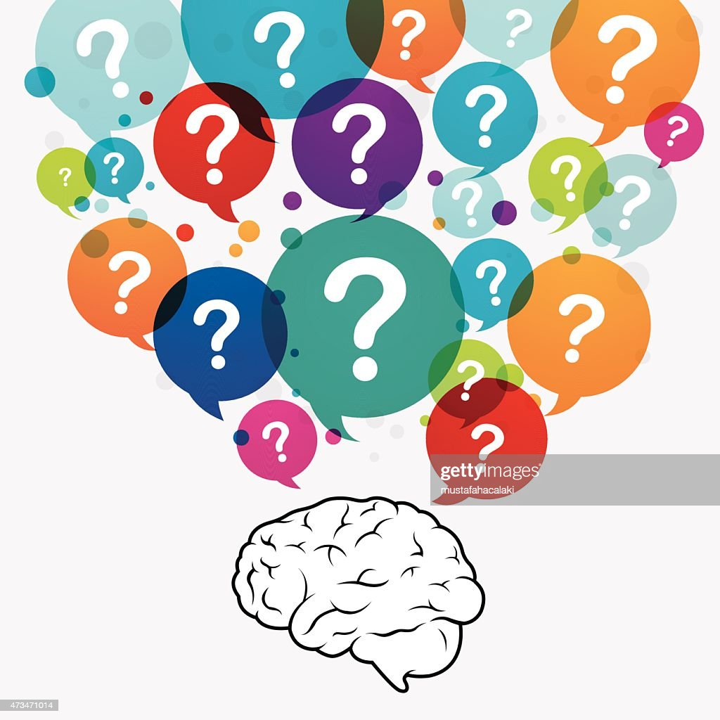 Questioning Brain Vector Art   Getty Images