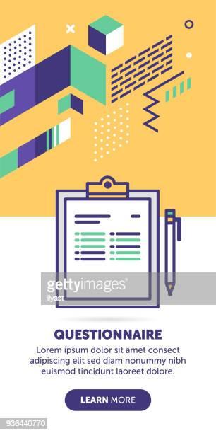 questionnaire banner - testimonial stock illustrations, clip art, cartoons, & icons