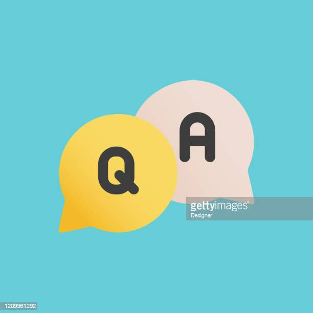 questions and answers flat icon. flat vector illustration symbol design element - q and a stock illustrations