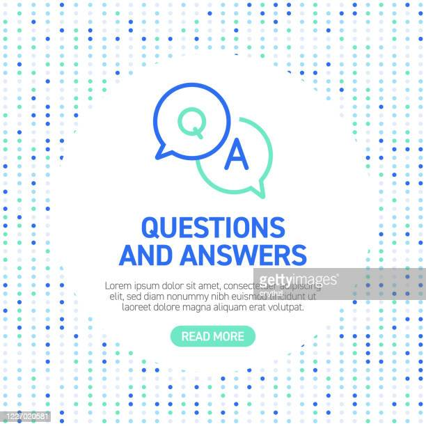 illustrazioni stock, clip art, cartoni animati e icone di tendenza di questions and answers line icons. simple outline icons with pattern - domanda e risposta