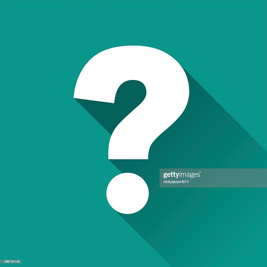 questions flat design icon