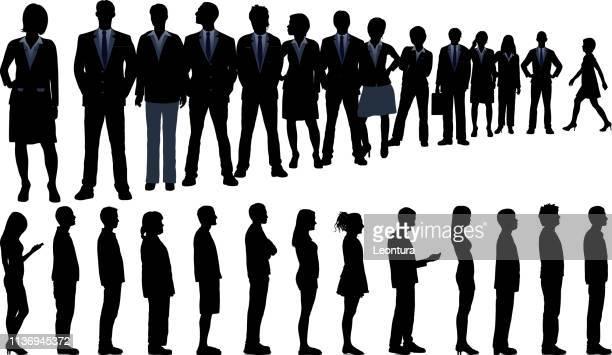 queues - queuing stock illustrations