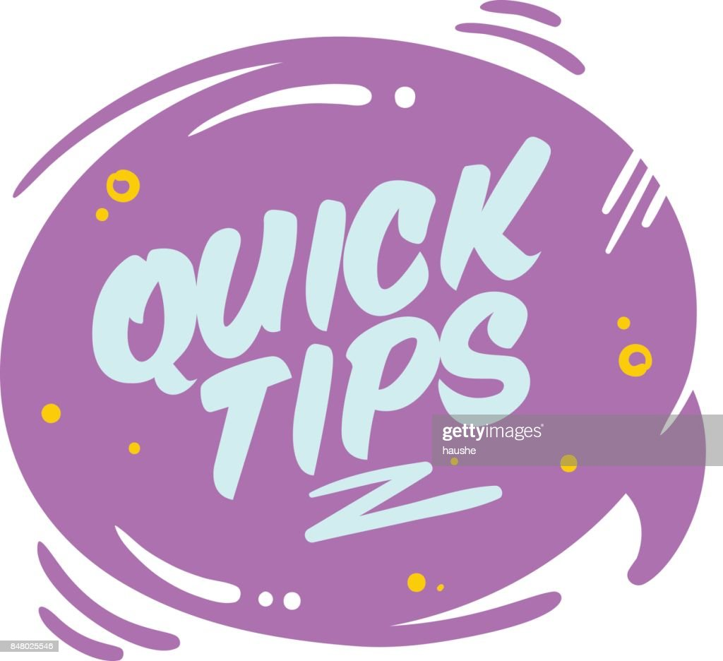 Quick Tips Vector Bubble Isolated on White.