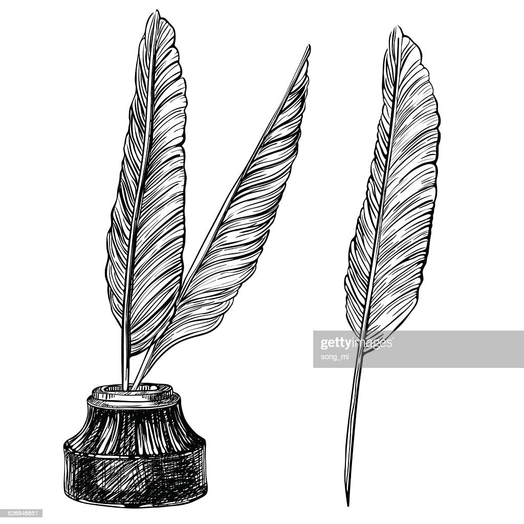 Quill Pens and inkwell