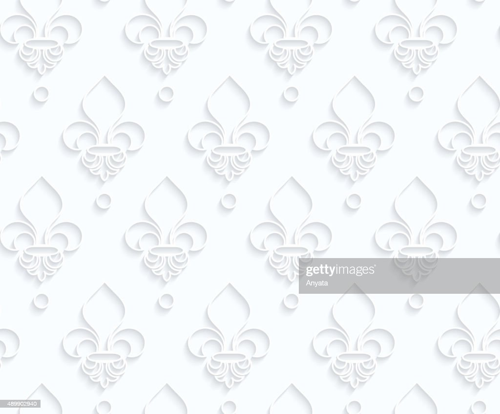 Quilling Paper Fleurdelis Vector Art Getty Images