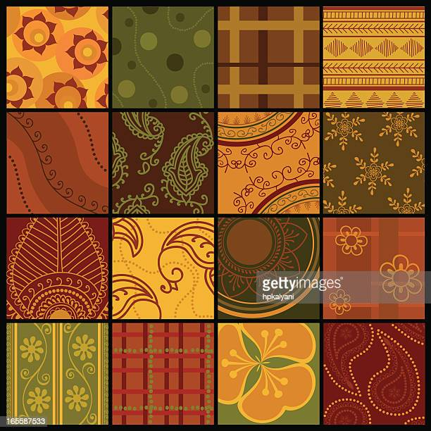 quilt squares (vector) - quilt stock illustrations, clip art, cartoons, & icons
