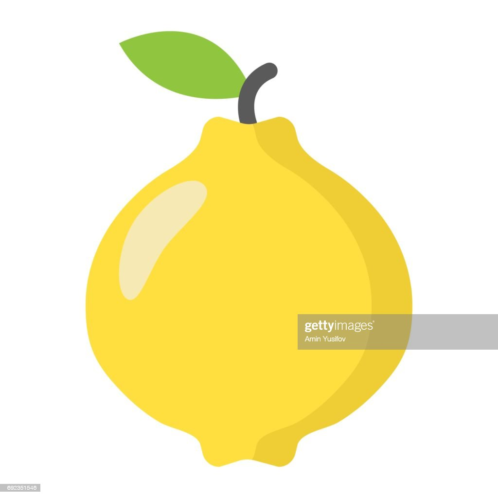 Quince flat icon, fruit and diet, vector graphics, a colorful solid pattern on a white background, eps 10.