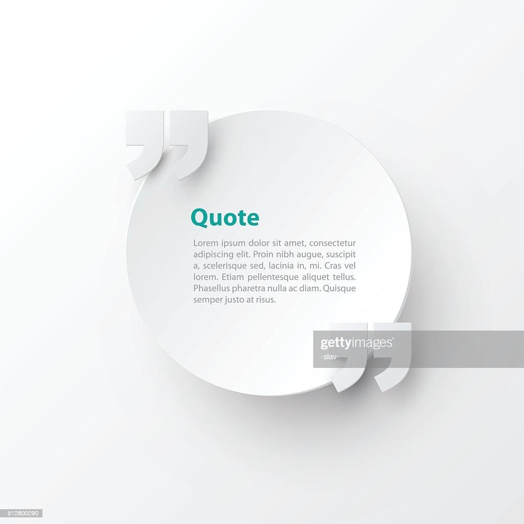 quotation mark text bubble