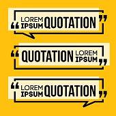 Quotation Speech banner