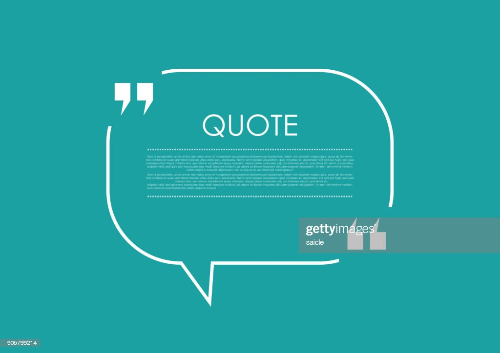 Quote blank speech bubble abstract bright design