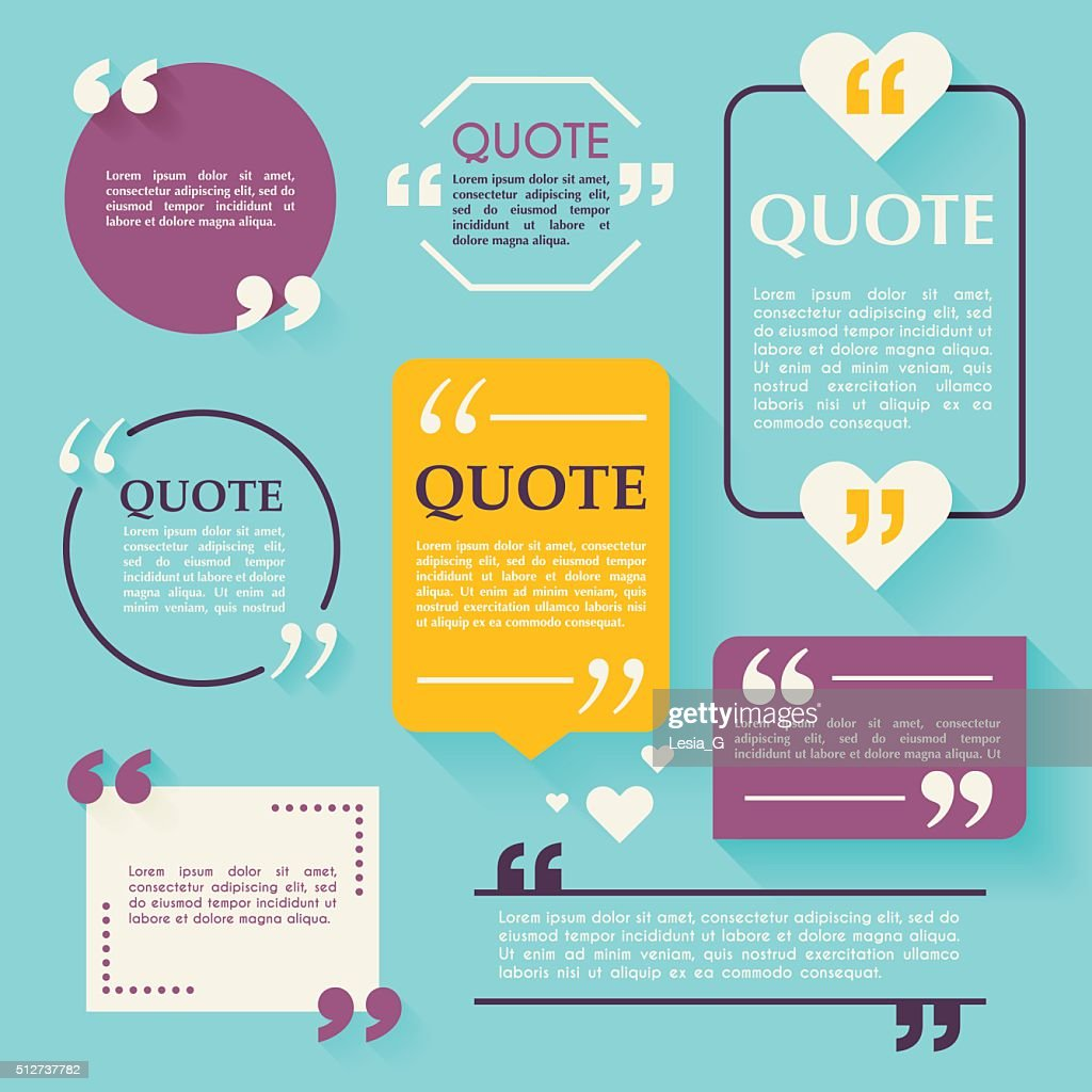 Quote blank template. Design elements, circle business card temp