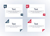 Quote boxes with marks set