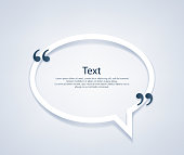 Quote bubble frame template illustration