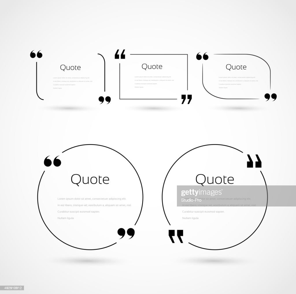 quote bubbles template set vector art getty images