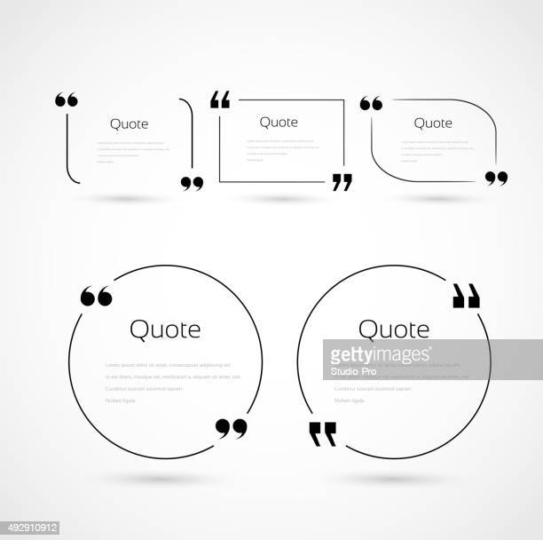 Quote bubbles template set