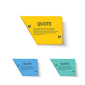 Quote forms set on paper banner