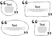 Quote frames templates set illustration