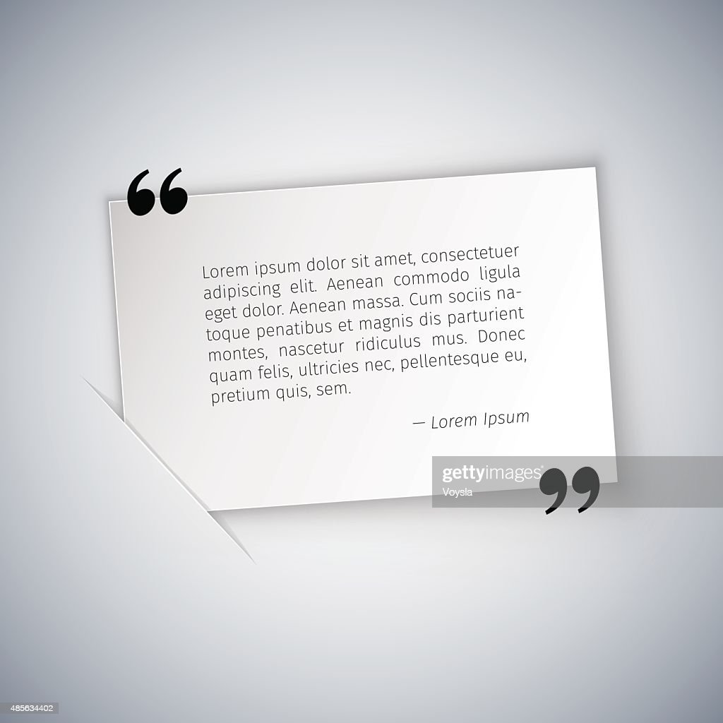 Quote on White Rectangular Sheet Template