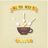 Quote poster - All you need is coffee