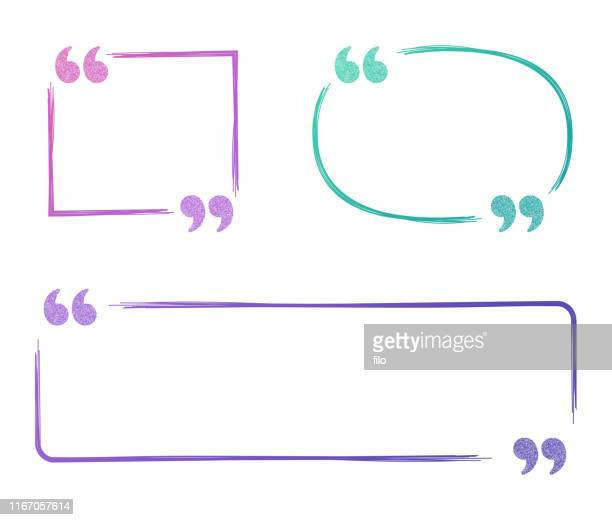 quote speech bubbles - rectangle stock illustrations