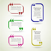 quote vector border set