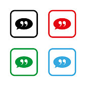 quotes  - color vector icon