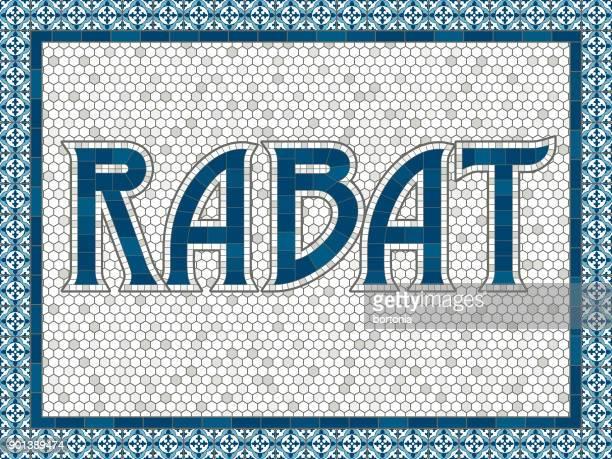 Rabat Old Fashioned Mosaic Tile Typography