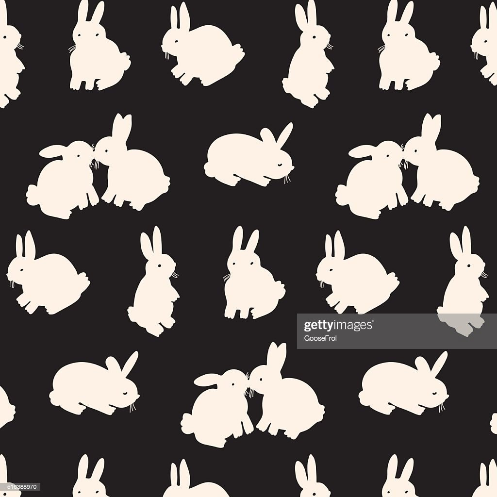 rabbit bunny silhouette color pattern background
