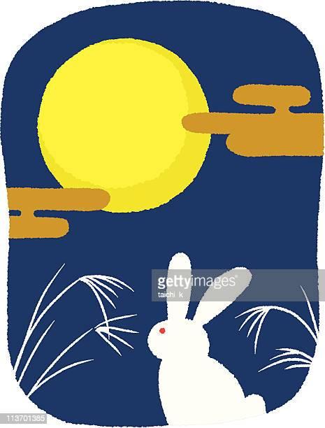 rabbit の月を表示