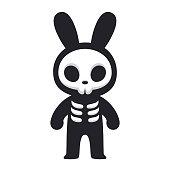 Rabbit skeleton character