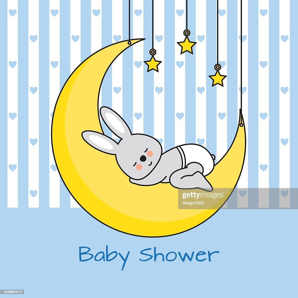 rabbit sleeping on the moon