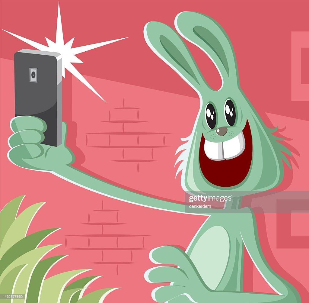 rabbit taking a selfie