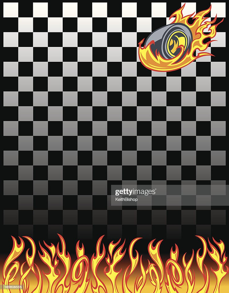 Race Car Checkered Flag Background Vector Art Getty Images