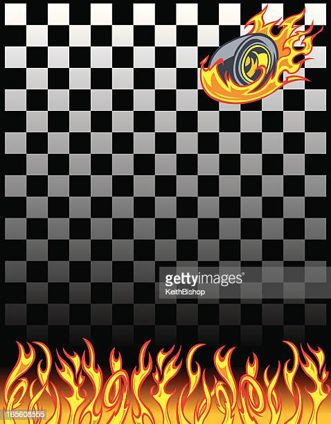 race car checkered flag background - burning stock illustrations, clip art, cartoons, & icons