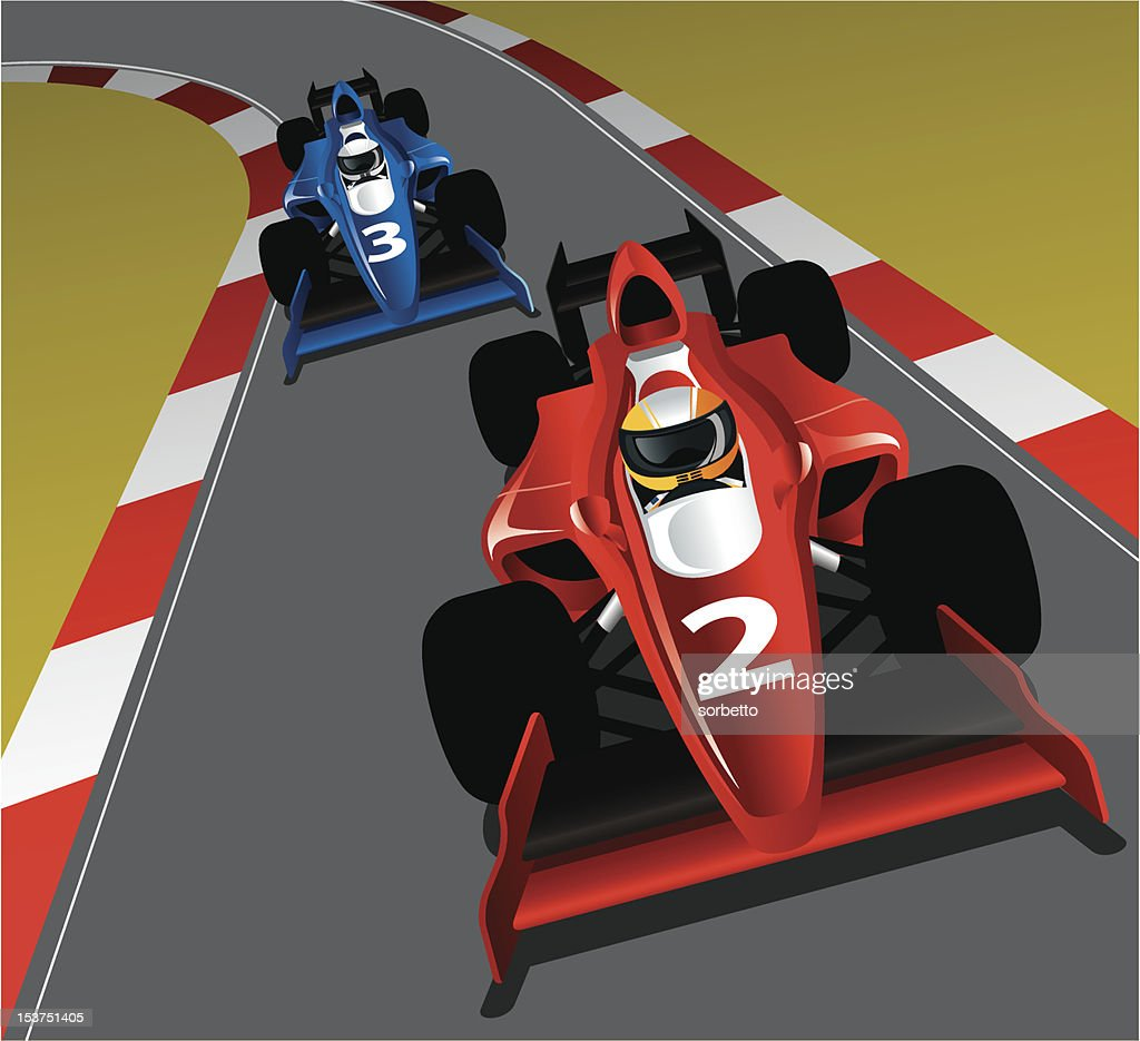 Race Car on the track : stock illustration