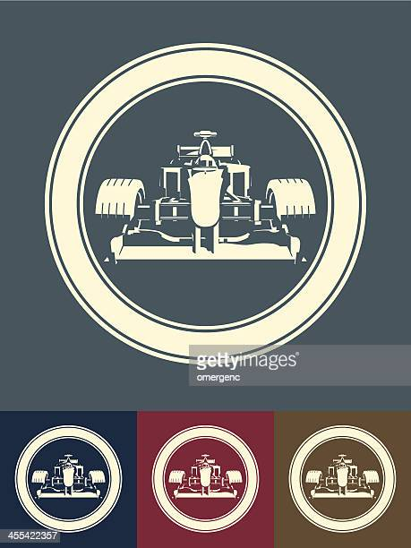 race car - formula one racing stock illustrations, clip art, cartoons, & icons