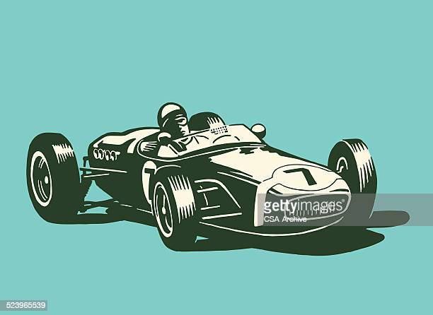 1 035 Iillustrations Cliparts Dessins Animes Et Icones De Voiture De Course Getty Images
