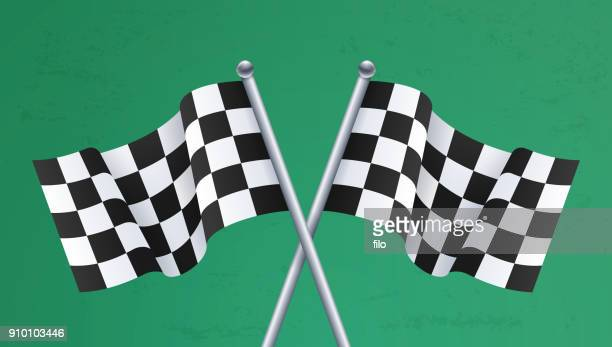 Race Finish Checkered Flags