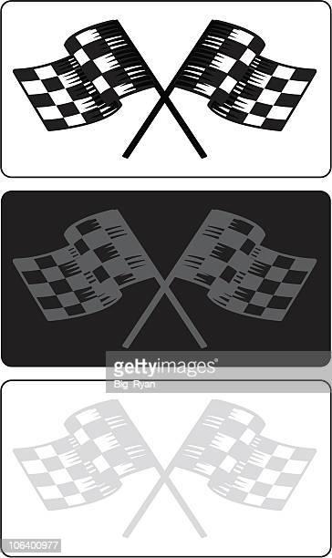 race flag variations - street racing stock illustrations, clip art, cartoons, & icons