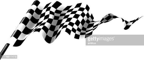 race flag - checkered flag stock illustrations