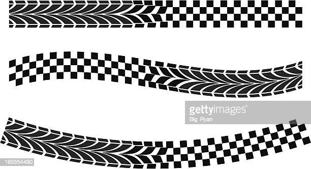 race flag warp - checkered flag stock illustrations