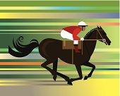 Race Horse Jockey C