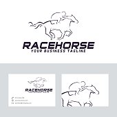 Race horse vector logo