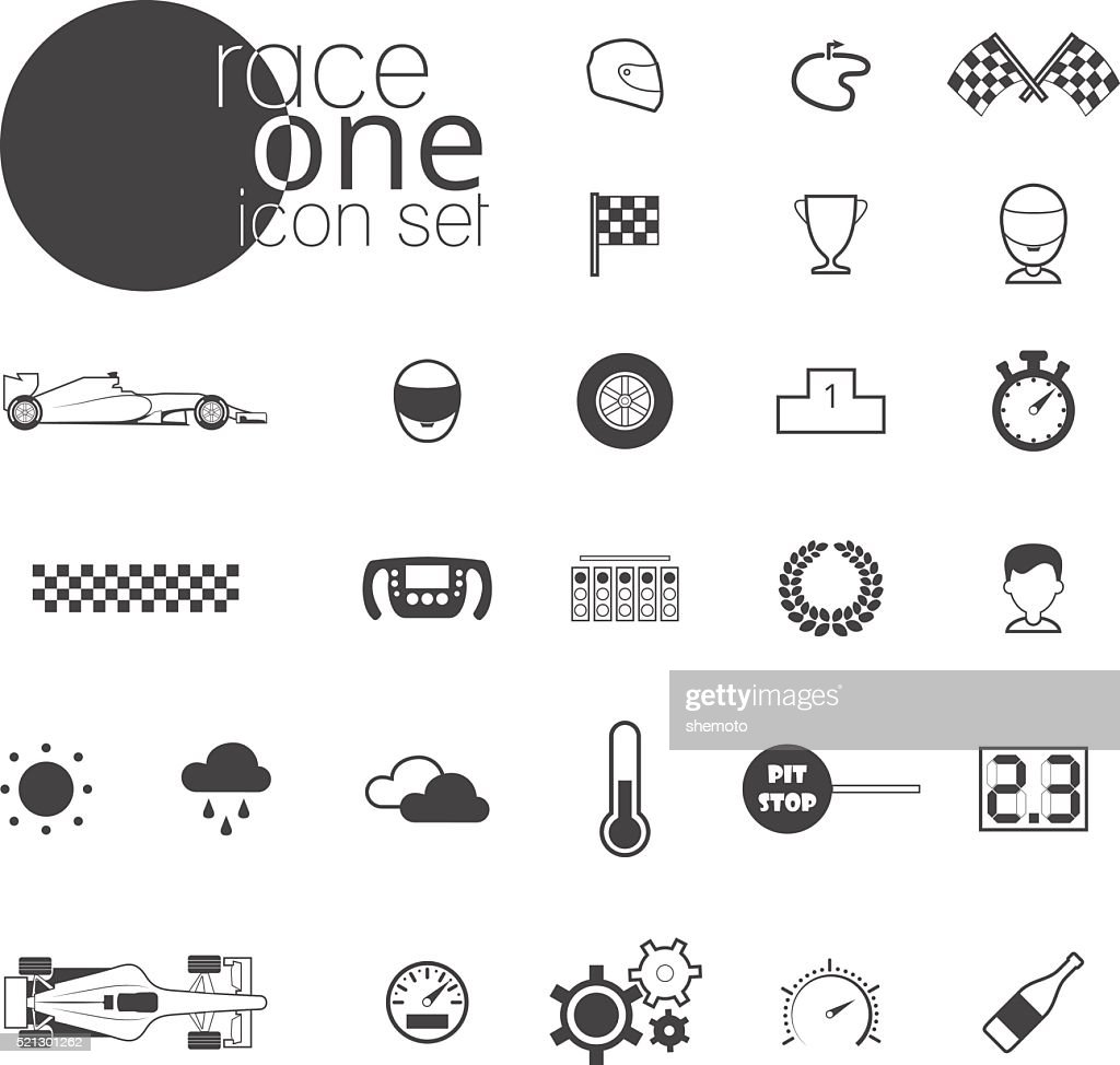 Race icon set. Vector illustration isolated on white background
