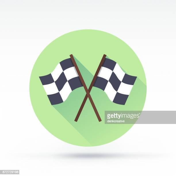 race icon - finishing stock illustrations