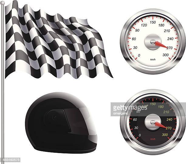 race set - motorcycle helmet stock illustrations, clip art, cartoons, & icons